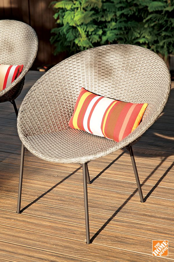 Simple, elegant and versatile — these stackable, woven chairs let you sit back and watch the season bloom from anywhere in your yard. Shop now at HomeDepot.ca.