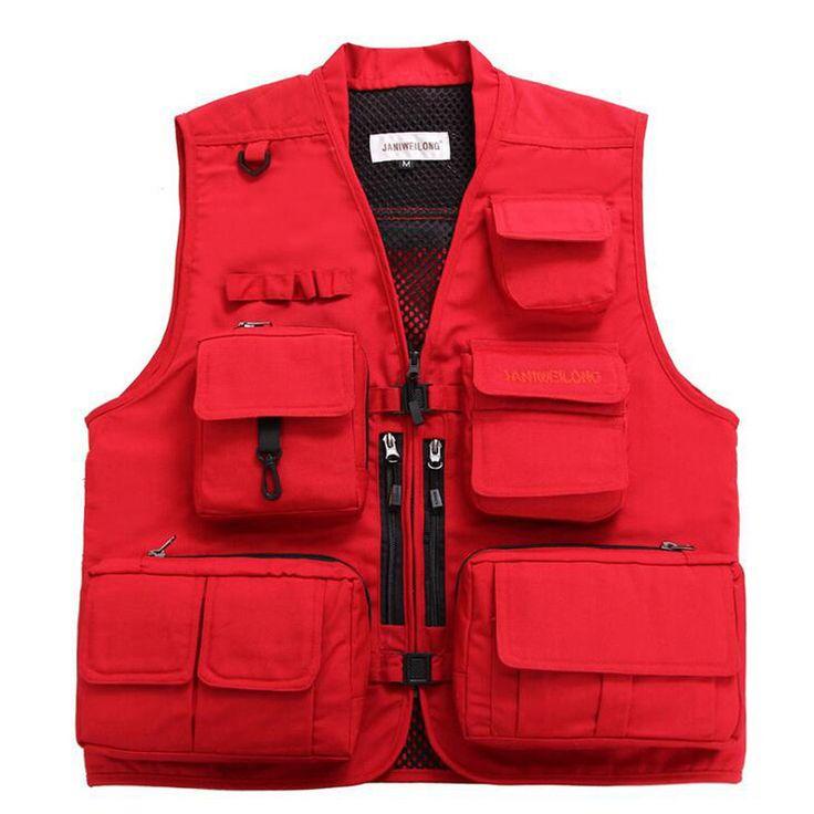 Outdoor Fishing Vest Quick Dry Multi-Pocket Photography Angler Jacket Vest Customizable Hiking Fishing Waistcoat gilet de peche