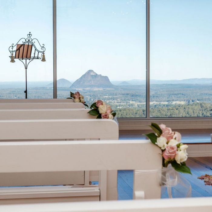 Wedding Chapel at Weddings at Tiffanys - Maleny A favourite spot to conduct weddings Adrienne Irvine Celebrant