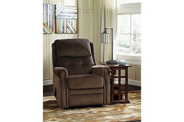 ashley furniture albany ga chocolate meadowbark recliner view 1 arizona furniture 10362