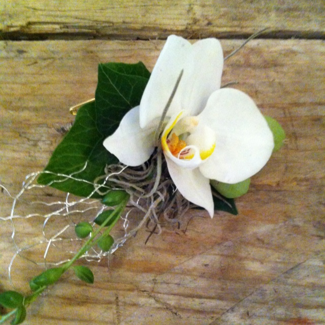 Buttonhole with orchid