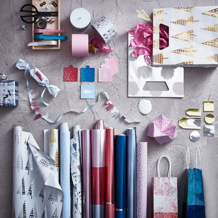 Etes-vous emballé par nos papiers et sacs cadeaux ? #cadeau #noel #fete #inspiration #noel #déco #décoration #IKEA
