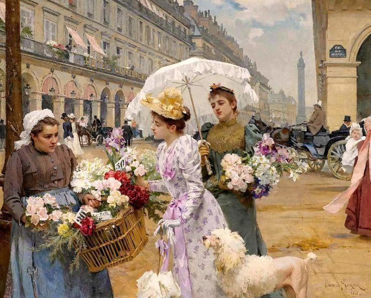 ПАРИЖСКИЕ ЦВЕТОЧНИЦЫ Луи Мария де Шрайвер (Louis Marie de Schryver)… (1862-1942)