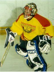 Ryan Miller at London Puckstoppers school 2003
