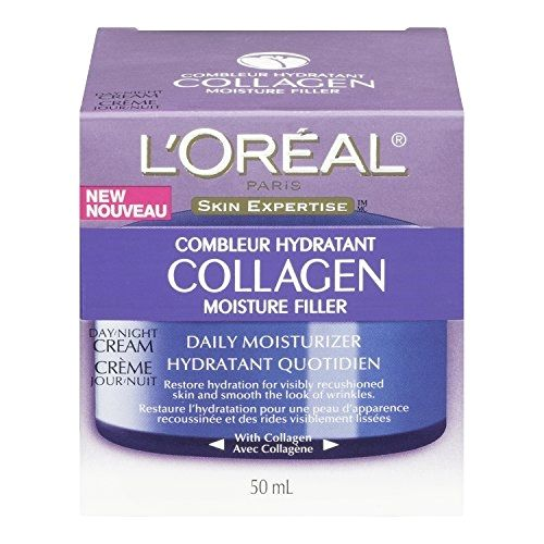 L'Oreal Paris Collagen Moisture Filler Facial Day/Night Cream, All Skin Types 1.7 oz  BUY NOW     $11.49    A dose of intense hydration and natural Collagen in Collagen Filler Moisture Day Lotion and Day/Night Cream is essential for y ..  http://www.beautyandluxuryforu.top/2017/03/09/loreal-paris-collagen-moisture-filler-facial-daynight-cream-all-skin-types-1-7-oz/
