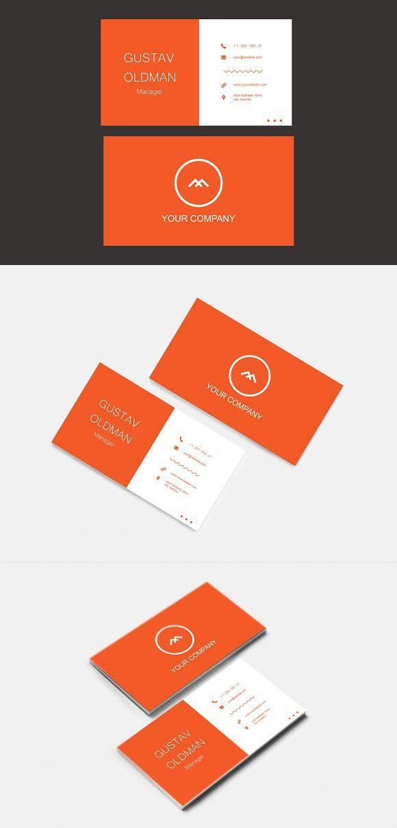 Simple Orange Business Card Business Card Design Simple Simple Business Cards Business Cards Simple