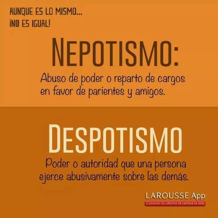 Nepotismo y despotismo