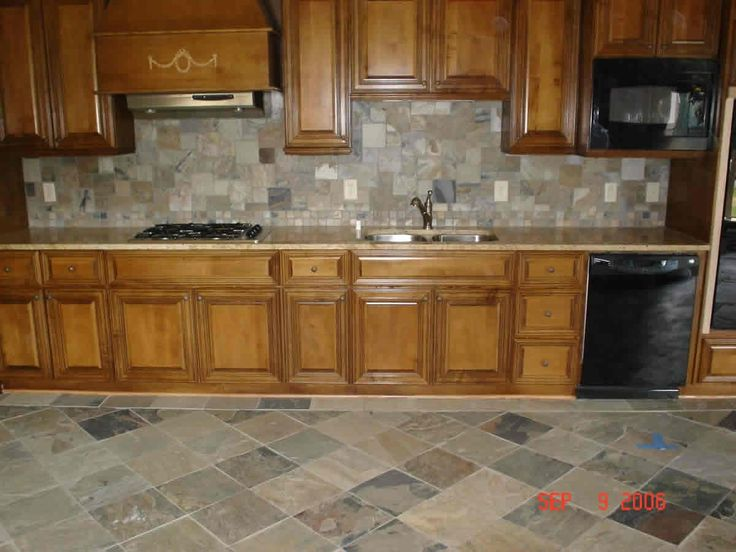 Backsplash For Kitchen With Honey Oak Cabinets   Google Search