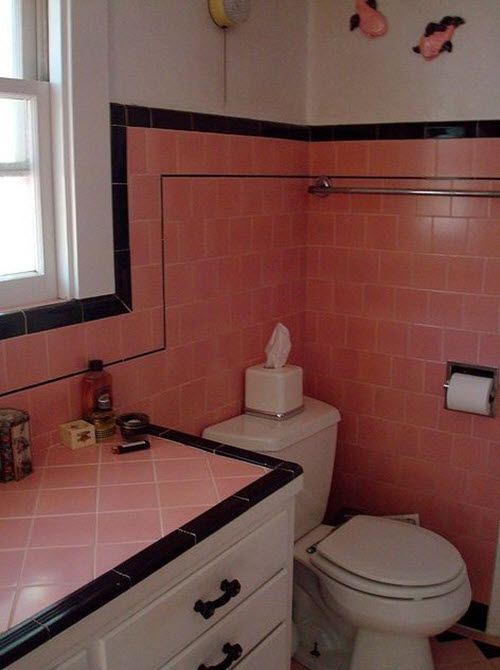 Bathroom Tiles Red best 25+ pink bathroom tiles ideas on pinterest | pink bathtub