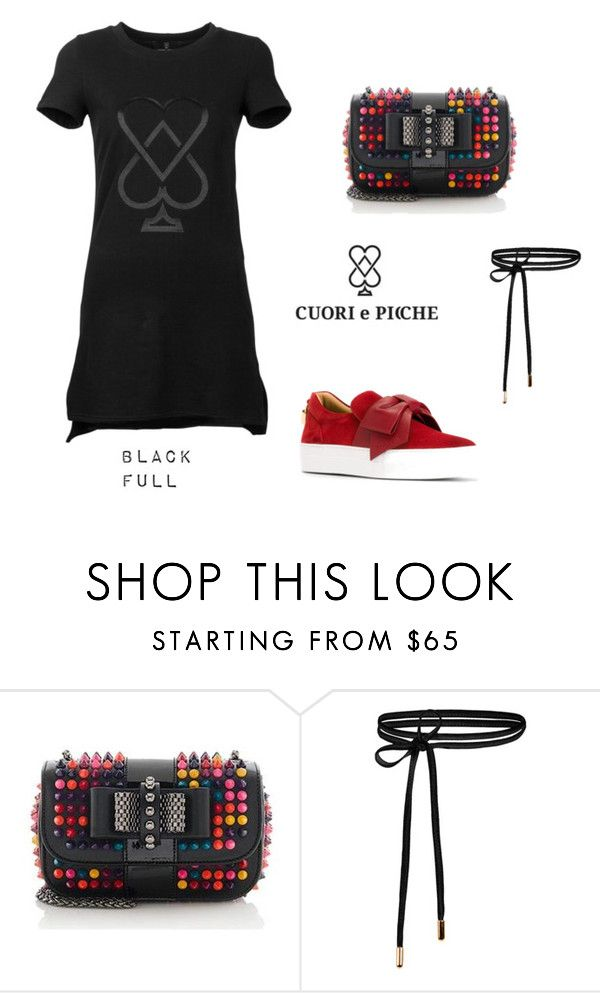 Black Full Set By Cuoriepicche Private On Polyvore Featuring Moda Christian Louboutin I Buscemi Clothes Design Shopping Black