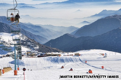 Skiing in Santiago, Chile
