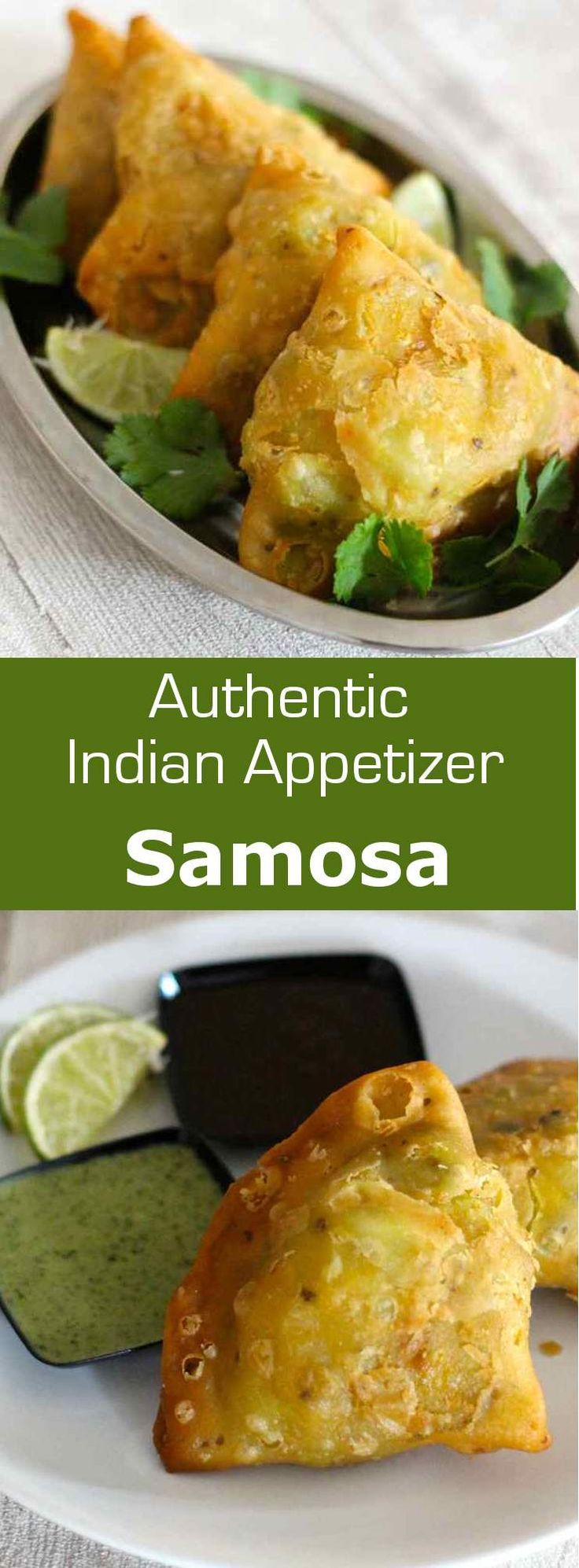 Samosa is a small triangular fried snack from northern India that is traditionally filled with vegetables and spices.