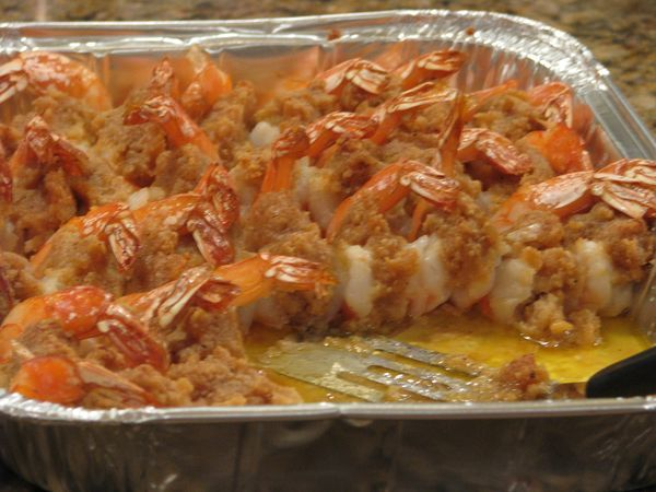 Looking for a New Year's Eve Dish? What about Baked Stuffed Shrimp? Made with Crab and Ritz Crackers.