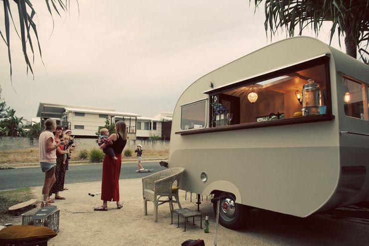 Vintage caravan 1952 restoration to mobile bar karavane - Mobile bar vintage ...