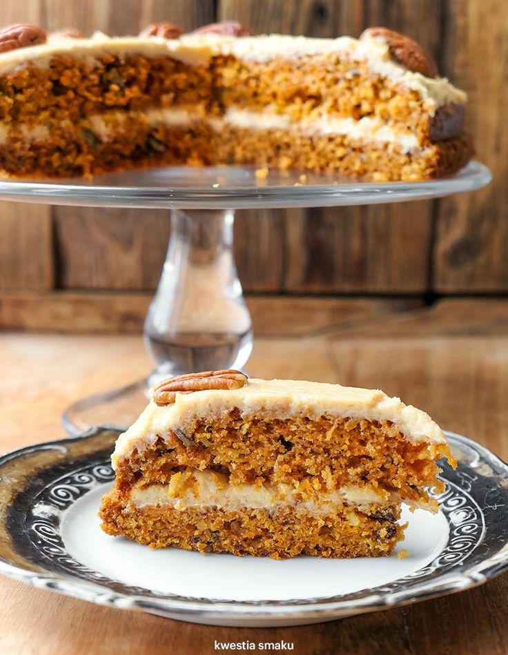 Ciasto marchewkowe z kremem orzechowym