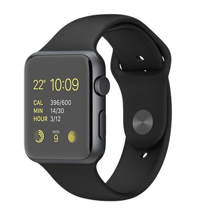 Apple Watch Sport - Cassa 42 mm in alluminio color grigio siderale con cinturino Sport nero - Apple (IT)