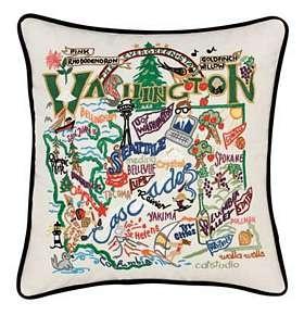 Cat Studio Vintage State Pillows