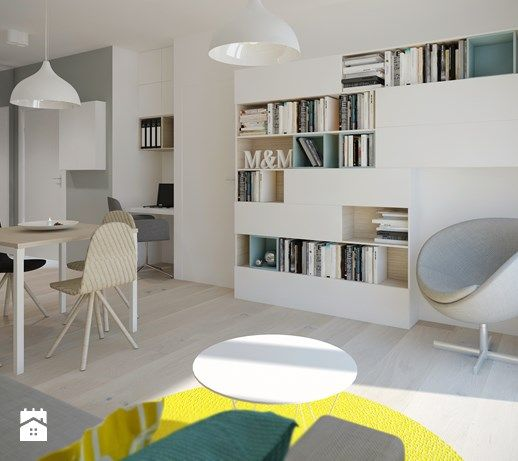 Salon z aneksem kuchennym - zdjęcie od Mohav Design