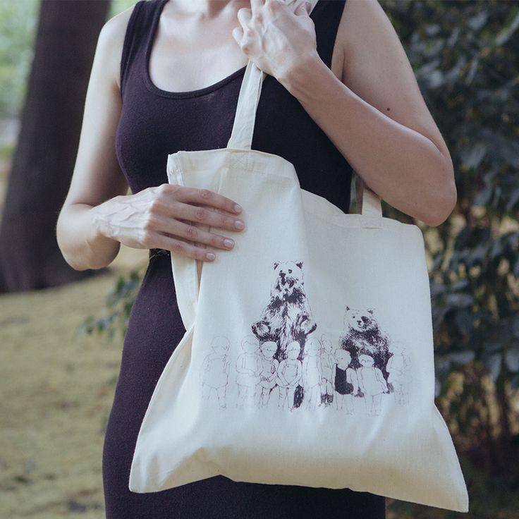 Bears - ekologická plátěná taška | Blindberry.com