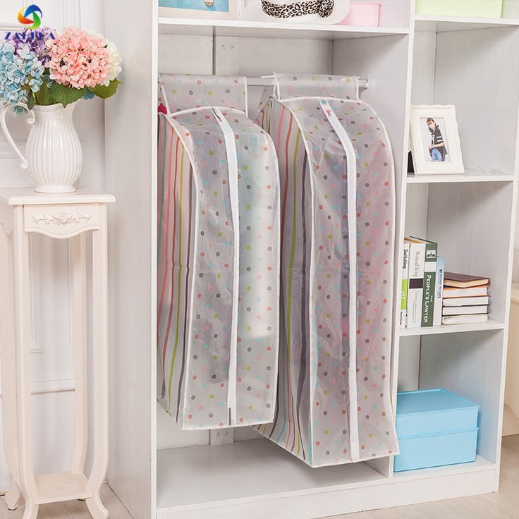EIEYO Storage Bag Case for Clothes Organizer Garment Suit Coat Dust Cover Protector Wardrobe Storage Bag for Clothes Organizer