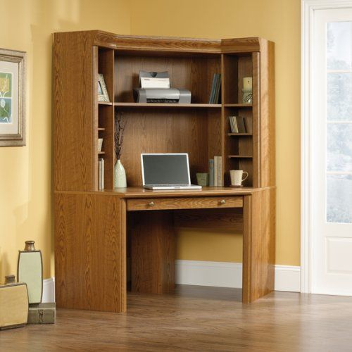 corner computer desk with hutch by sauder by sauder hutch has 4 adjustable