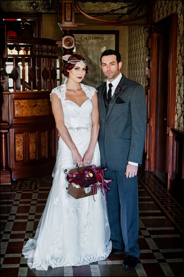 Sarah's 1920's wedding style is an absolute must-see! {Photo by William Innes Photography via Project Wedding}