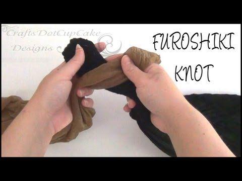 ▶ how to tie and untie a furoshiki knot | craftsdotcupcake