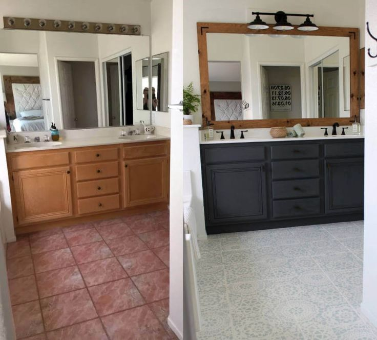 10 Of The Most Unbelievable Painting Transformations Of All Time Bathrooms Remodel Updating House Bathroom Renovations