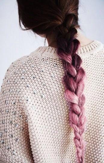 Capelli colorati rosa