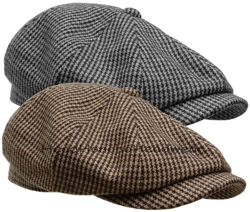 roshe Ivy Hat   Gatsby TWEED Tweed Newsboy Hounds Gatsby  Cap run women and STETSON Golf Driving Men WOOL black Ivy Cabbie