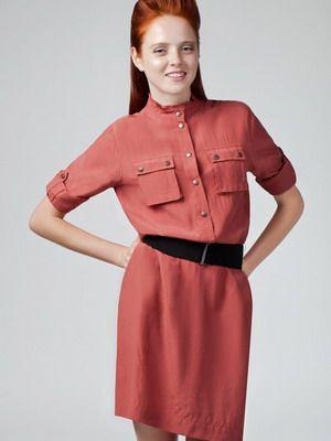 Модные женские платья-рубашки на 2015 года: на фото джинсовые и красные модели