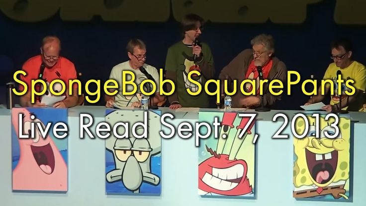 This video of a live reading of the first episode of Spongebob Squarepants will -- why am I wasting your time writing about it? Watch, enjoy, love your life more than you did 11 minutes ago.