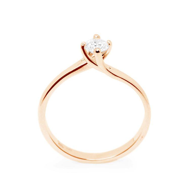 Rózsaszín arany eljegyzési gyűrű gyémánttal - Rosegold engagement ring with diamond