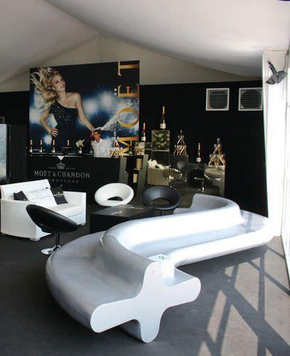 Contemporary modular upholstered bench LIQUIRIZIA by Aziz Sariyer Altreforme