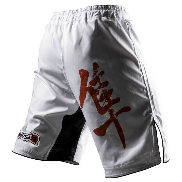 ΣΟΡΤΣΑΚΙ MMA HAYABUSA KYOUDO FIGHT SHORTS WHITE | Σορτσάκια MMA Hayabusa | Ρούχα Hayabusa Fightwear | Ρούχα Everlast, Venum, Tapout κ.α