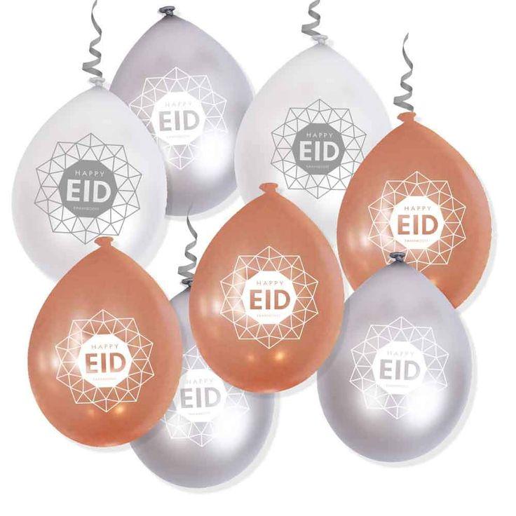 Rose pearl + Silver + Pearl - EID Geometric Balloons - Air use