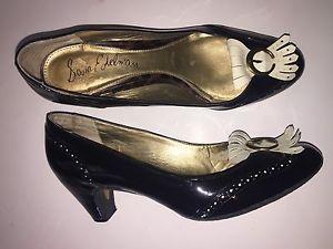 Sam Edelman Women 039 s YAS Black Patent Leather Work Career Fringe Heels Pumps 9 S2 | eBay