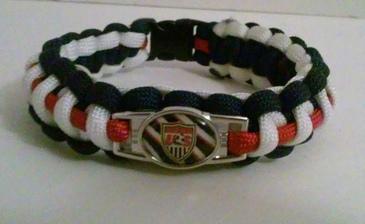 "USA SOCCER TEAM PARACORD BRACELET 550 CORD RED WHITE BLUE SIZE 8.5""COPA AMERICA  | Sports Mem, Cards & Fan Shop, Fan Apparel & Souvenirs, Soccer-National Teams | eBay!"