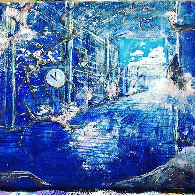 【matsuko_blue】さんのInstagramをピンしています。 《【インスタにもっと絵を載せよう】 第11弾「桜叫ぶ金座街」 . . 前にコラージュした途中作品をUPしましたが完成作品 .  世界の全てが海に沈めばいいのにと思う。 そしたら空を飛べるのに . . . 路上ペイントで描いた二枚をリミックスした一枚 作品展でちゃんと展示してあげたら . 原画販売もしよう . #金座街 #広島 #matsukoblue #桜 #春よ来い #春一番 #風を意識して描きました #springwind #cherryblossom #underwater #海の中 #水の中 #海流 #春よ来いと桜が叫ぶ》