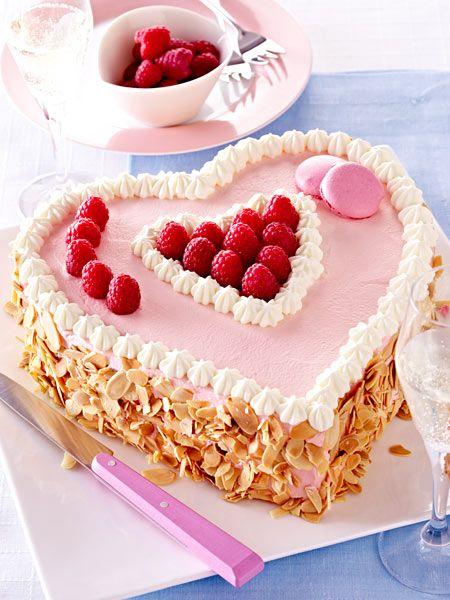 Himbeerherz-Torte