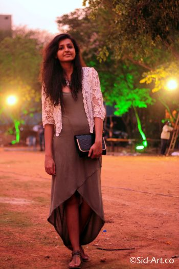High-Low Grey Dress, Street Style, Street Fashion, India