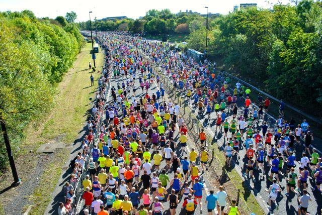 Great North Run start line 2014, photo North News
