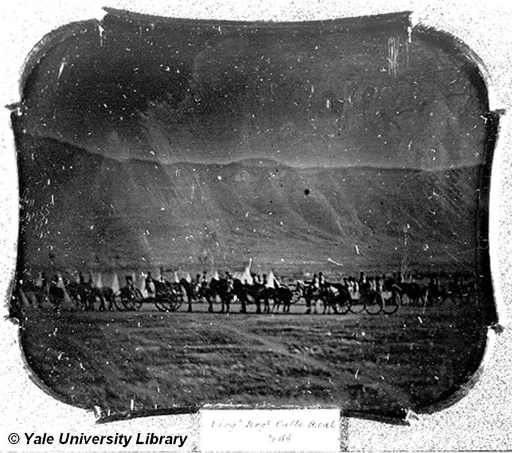 (1847) Major Lucien B. Webster's battery in the mountains north of Buena Vista, Mexico, following an important American victory there.