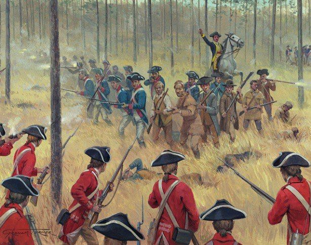 16 de Agosto de 1780, Guerra de Independencia USA, batalla de Camden (Carolina del Sur) donde los 2.100 hombres del Teniente General Charles Cornwallis lograron una estruendosa victoria sobre los 3.700 estadounidenses bajo el mando del General Horatio Gates, que sufrió 900 bajas entre muertos y heridos más un millar de prisioneros, por unos 80 muertos y 245 heridos británicos.