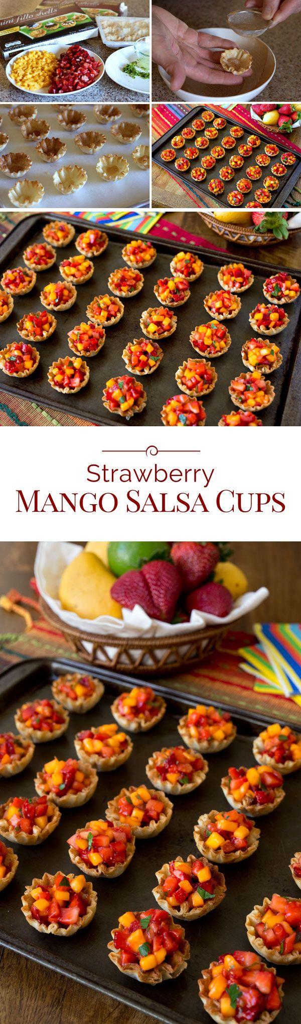 Strawberry Mango Salsa Cups