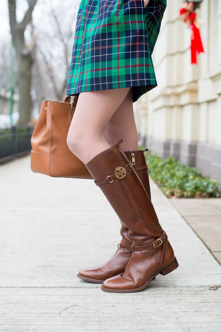 Tory Burch Light Brown Riding Boots