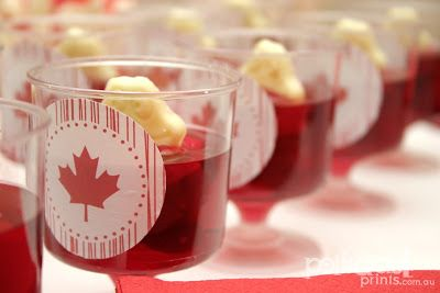 Typography sets the scene for our dessert table at our Canada celebrations on July1st! Bakerella  inspired Brownie cake pops & a little Aust...