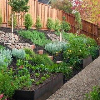 Decoration slope landscaping ideas