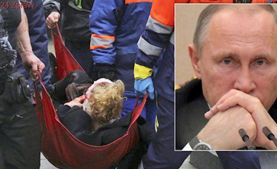 Spálené vlasy a krev: Svědci popsali výbuch metra, Putin chtěl masakr vidět