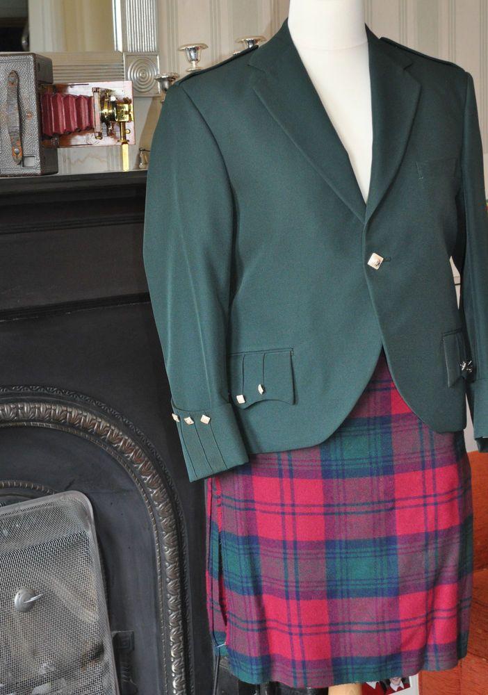 Men s Green Vintage Argyll Jacket 42  Chest - The Kilt Shop, Edinburgh